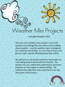 Weather Science and Language Arts Mini Projects
