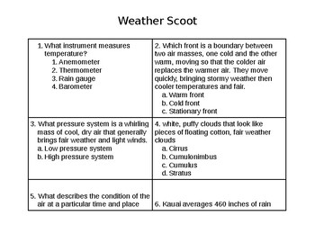 Weather Scoot Game