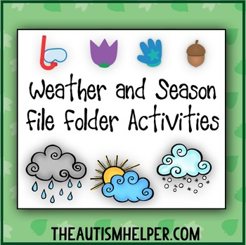 Weather & Season File Folder Activities