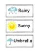 Weather & Season Word Wall