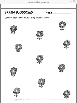 FREEBIE Weather - Seasonal Work Sheets - Winter, Spring, Summer, Fall