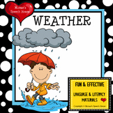Weather Seasons Early Reader Literacy Circle