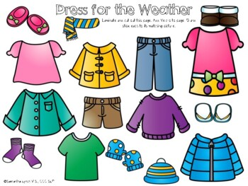 Weather & Seasons File Folder Language Activities