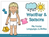 Weather & Seasons File Folder Language Activities