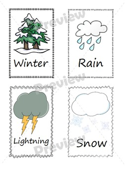 Weather & Seasons Flash Cards