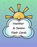Weather & Seasons Flash Cards