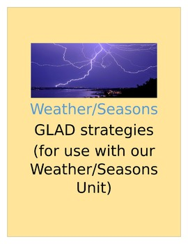 Weather/Seasons GLAD strategies