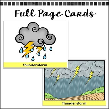 Weather & Seasons: Picture Vocabulary Cards