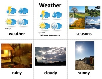 Weather & Seasons Sign Language (ASL) Vocabulary Cards