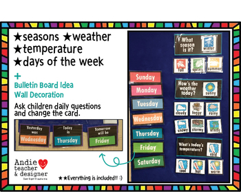 Weather, Seasons, Temperature, Days of the Week Cards