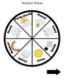Weather & Seasons Wheel w/Seasonal Montessori Cards and Activity