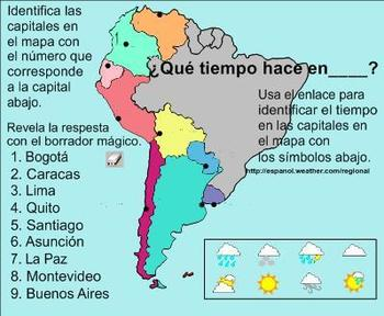 Weather, Seasons, and Months Spanish SMART Board Lesson