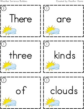 Weather Sentence Builder