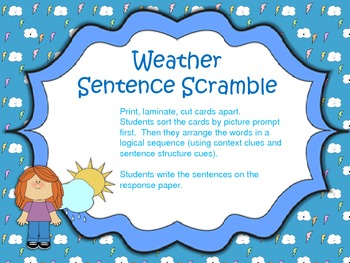 Weather Sentence Scramble
