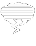 Weather Shape Writing Paper