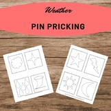 Weather Shapes Pin Pricking Work Homeschooling Montessori