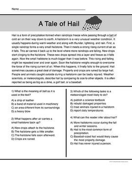 Weather Short Reading Passages