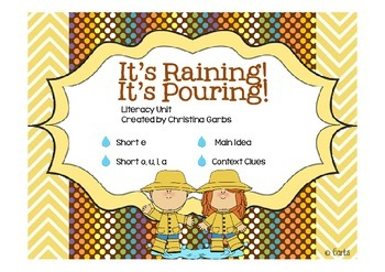 Weather - Short e and Other Literacy Activities