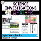 Weather - Sight Word Books (symbol support and text only)