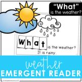 Weather Sight Word Emergent Reader