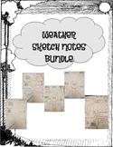 Weather Sketch Notes Bundle