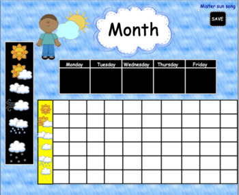 Weather Smartboard Interactive Graphing