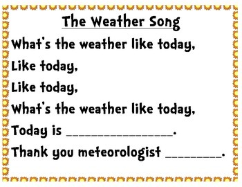 Weather Song