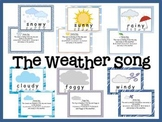 Weather Song-Bulletin Board or Visual Aid Set