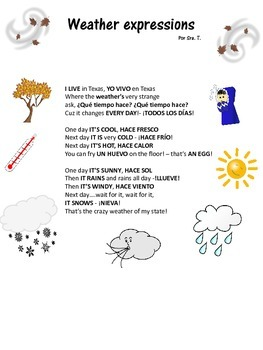 Weather Song and Activities