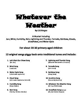 Weather Songs - the Musical