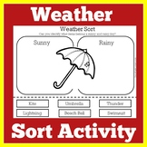 Weather Sorting Activity | Weather Sort | Weather Cut and Paste