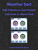 Weather Sorts | High Pressure vs. Low Pressure | Cold Front vs. Warm Front
