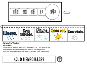 Weather: Spanish Interactive Notebook Page