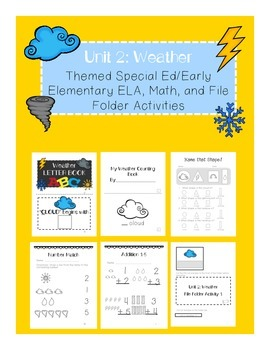Weather Special Ed/Early Elementary Unit