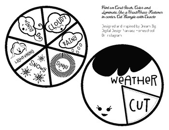 Cute Illustrated Weather Spinners