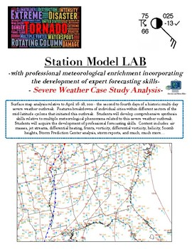 Weather: Station Models and MASSIVE Severe Thunderstorm LAB.  UNIQUE Learning!