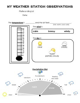 Weather Station_Daily Observation and Weekly graphing chart