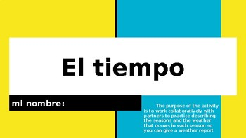 Weather Stations in Spanish (El tiempo)