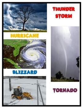 Weather Storms Activities (Mini Reader, Flip Book & Handout)