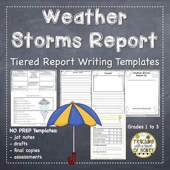 Informational Writing Templates | Weather Writing | Weather Activities