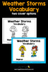 Weather Vocabulary - Storms