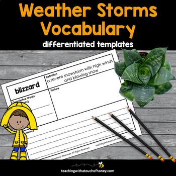 Weather Vocabulary Book Two: Weather Storms Tiered Vocabul