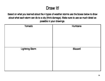 Weather Study Book- 2nd Grade Journeys Lesson 8