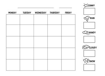 Weather Study Unit Calendar