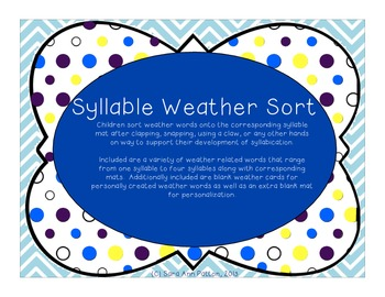 Weather Syllable Sort