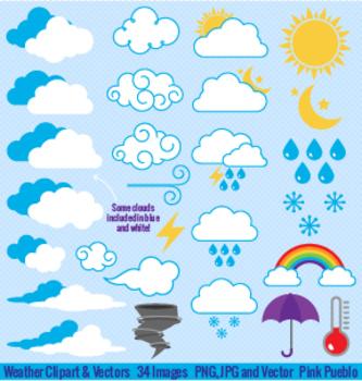 Weather Symbols Clipart and Vectors