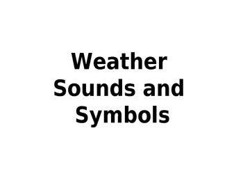 Weather Symbols power point with sounds