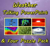 Weather Talking PowerPoint & Four Puzzle Pack