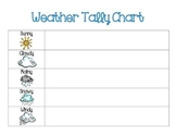 Weather Tally Chart