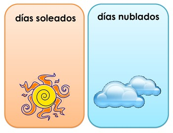 Weather Tally Chart (SPANISH)